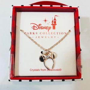 Disney Parks Swarovski rose gold ear necklace